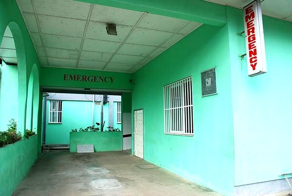 Emergency entrance at the Saint Joseph´s Catholic Hospital, Liberia, Monrovia