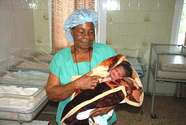 Newborn at the Saint Joseph´s Catholic Hospital, Monrovia, Liberia