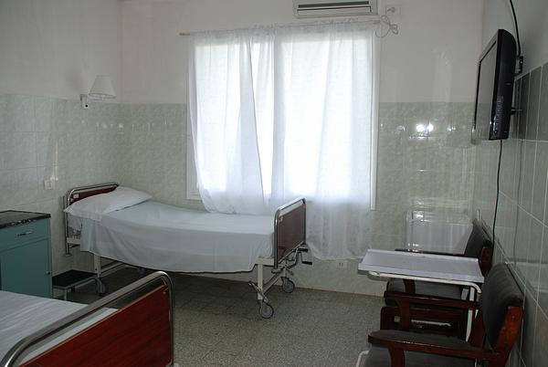 Private room at the Saint Joseph´s Catholic Hospital, Monrovia, Liberia