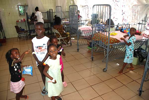 Children at the Pediatric Ward of the Saint Joseph´s Catholic Hospital, Monrovia, Liberia