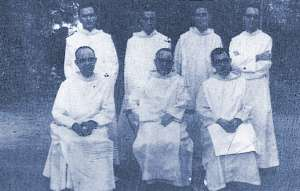 The first Community of Brothers of Saint John of God, who opened the Saint Joseph´s Catholic Hospital in 1963